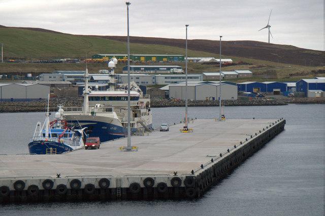 Fishing vessels at the new Holmsgarth Pier, Lerwick