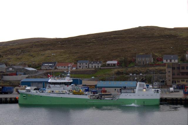 MV Oysund at Holmsgarth, Lerwick