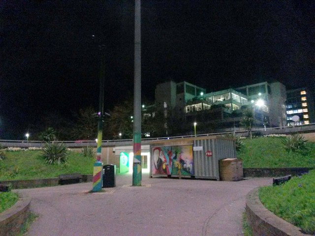 Bournemouth: inside the Station Roundabout at night