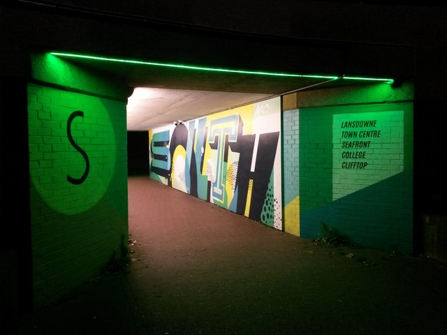 Bournemouth: southern subway under the Station Roundabout
