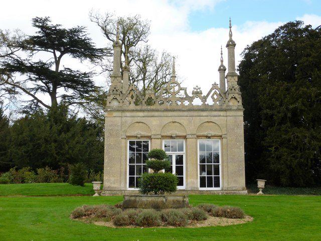The Summer House in the South Garden at Burghley House