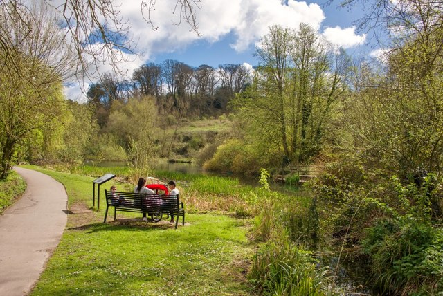 Yeovil Country Park: A family relaxes