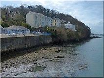 SH5873 : Houses overlooking the Menai Strait, Bangor by Robin Drayton