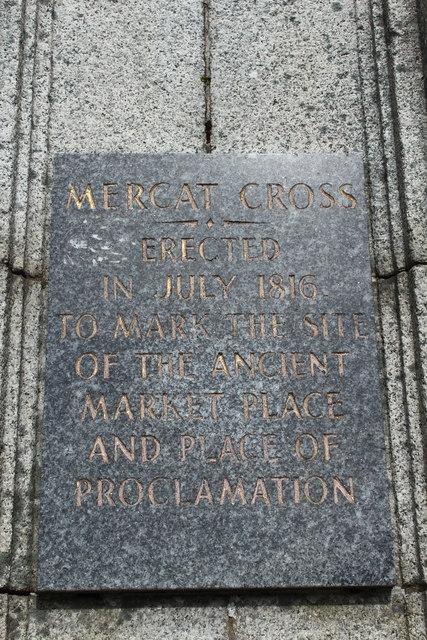 Mercat Cross Plaque, Wigtown