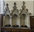 SE7984 : Sedilia, Ss Peter & Paul church, Pickering by J.Hannan-Briggs