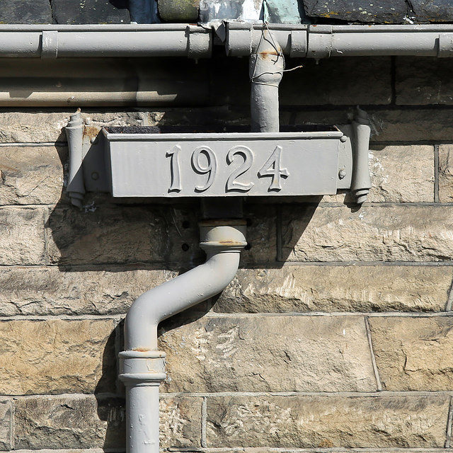 A detail on the Burgh Buildings, Galashiels