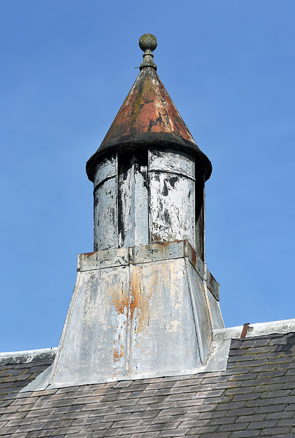 A roof detail in Bank Street, Galashiels
