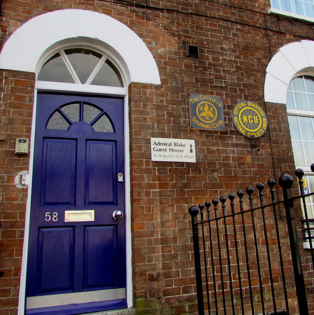 Entrance to Admiral Blake Guest House, Bridgwater