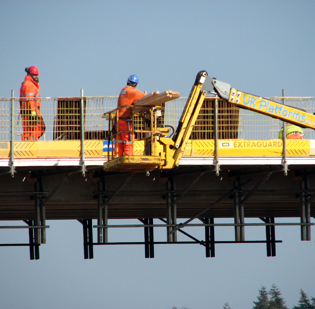 "The ""green"" bridge under construction"
