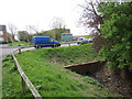 ST2938 : Dry drainage channel, Riverside Close, Bridgwater by Jaggery