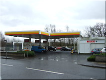 NS7177 : Service station on Glasgow Road, Kilsyth by JThomas