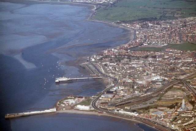 Morecambe Promenade from the air