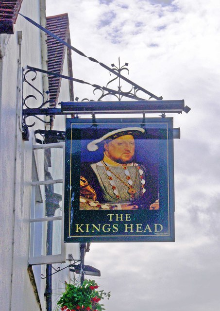 The Kings Head (2) - sign, Quarry Street, Guildford, Surrey