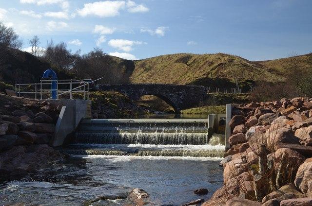 Intake Weir for Glen Loth Hydro Scheme, Sutherland