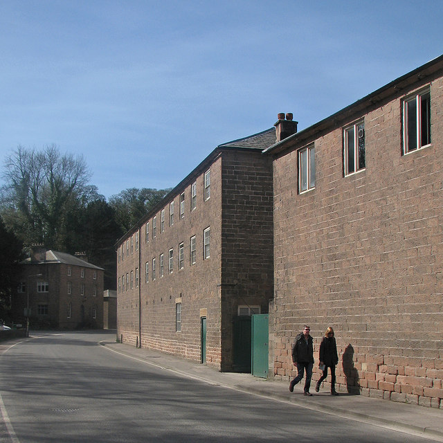 Cromford: Mill Road and part of Arkwright's Mills
