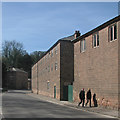 SK2956 : Cromford: Mill Road and part of Arkwright's Mills by John Sutton