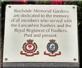 SD8913 : Lancashire Fusiliers & Royal Regiment of Fusiliers memorial plaque by Gerald England