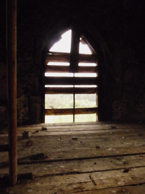 View from within the tower at St Andrew's, Tottington
