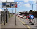 ST3037 : A39 directions sign on the approach to the A38 T-junction in Bridgwater by Jaggery