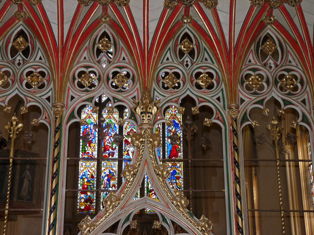 Wealth of Pugin detail at St Mary's, West Tofts