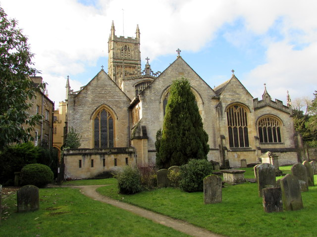 East side of Grade I Listed Cirencester Parish Church