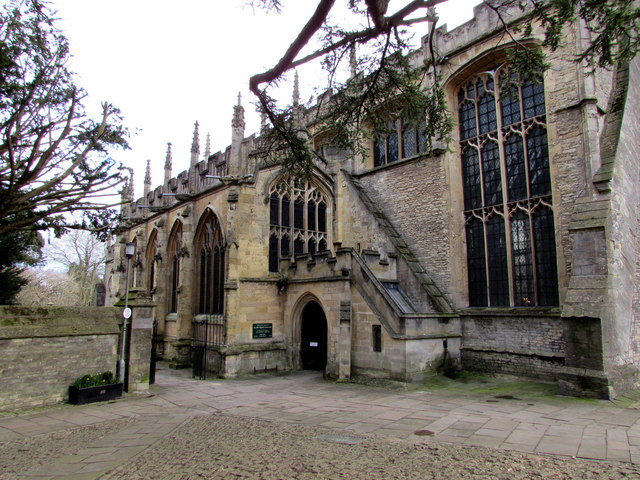 West side of Grade I Listed Cirencester Parish Church