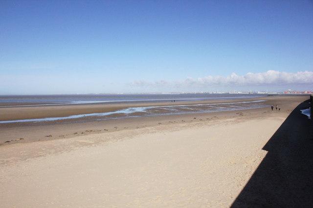 The beach at Wallasey