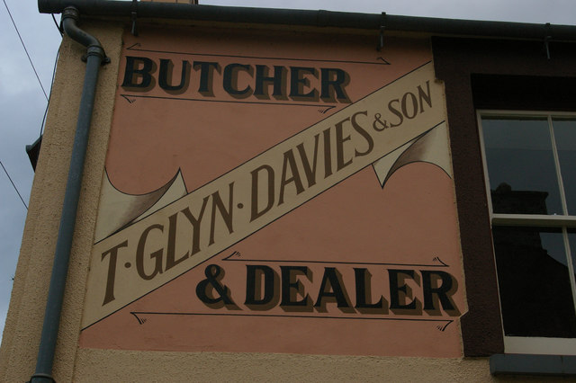 Painted shop sign, Upper Bridge Street, Newport / Trefdraeth
