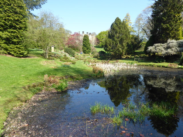 Pond in the gardens of Burrswood Hospital