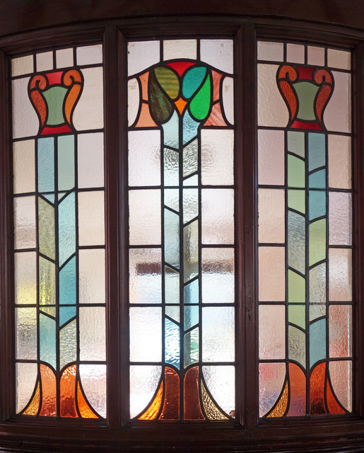 Stained glass, Rugby Baptist Church