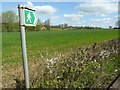 SO4308 : Footpath across and arable field by Philip Halling