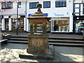 TQ3937 : Water Fountain in East Grinstead by PAUL FARMER