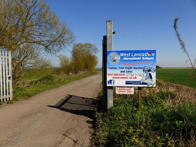Entrance to West Lancashire Microlight School