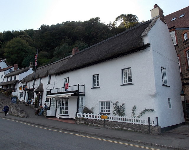 Thatched buildings, Mars Hill, Lynmouth