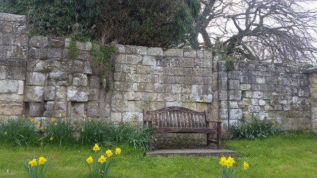 St Mary's Priory wall history