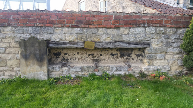Coffin Rest at St Mary's Priory Old Malton