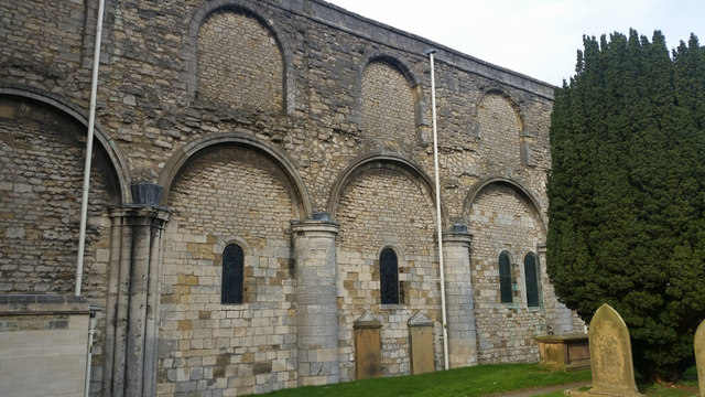 Blocked and reduced windows at St Mary's