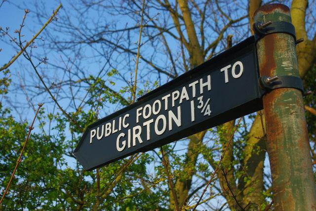 Public Footpath to Girton 1¾