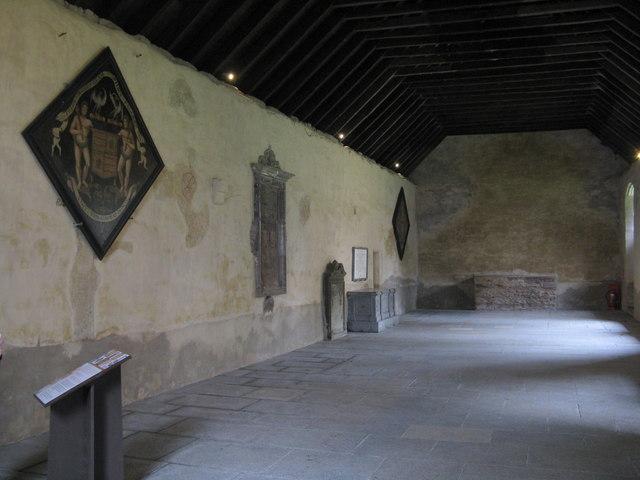 Inside Innerpeffray Chapel