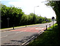ST3093 : End of the 30mph speed limit at the southeast edge of Cwmbran by Jaggery
