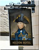 SD8912 : Sign of the Nelson Hotel by Gerald England