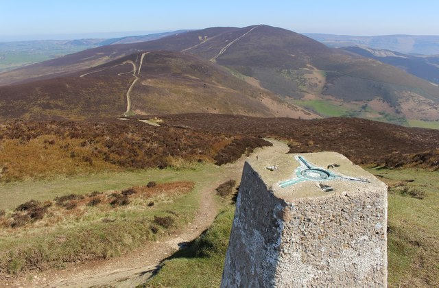 View from the trig point at Moel Morfydd