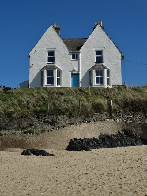 House by the beach at Rhosneigr