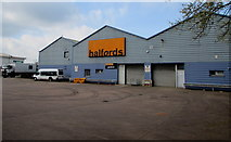 ST3037 : Goods inward side of Halfords, Bridgwater by Jaggery