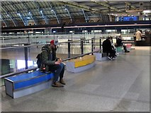 TQ3083 : Seats by the HS1 platforms (2) by Mike Quinn
