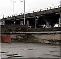ST3089 : End of motorway signs at M4 junction 26, Newport by Jaggery