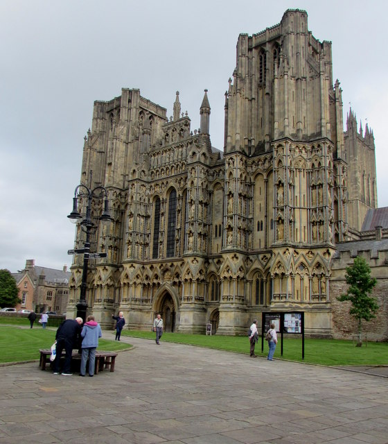 West side of Wells Cathedral