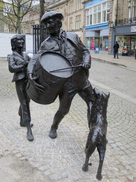 His master's drum - High Street sculpture, Elgin