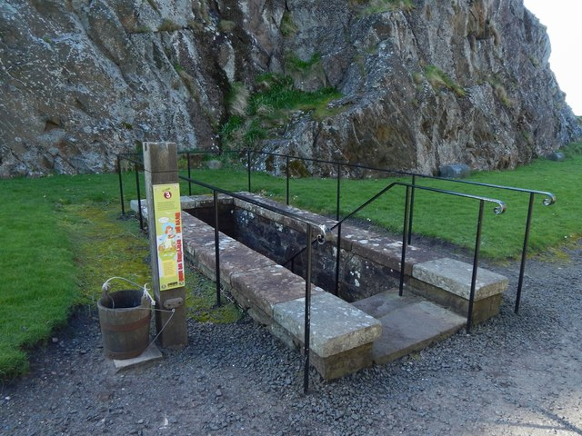 Dumbarton Castle: steps to the well-house