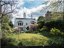 TQ3296 : House overlooking the New River Loop, Enfield by Christine Matthews